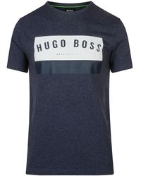 BOSS Green Box Printed T-shirt - Blue