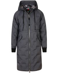 Replay Padded Long Coat - Grey