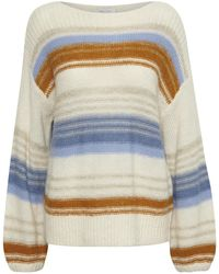 Part Two Afrodite Striped Knit Pullover - Blue