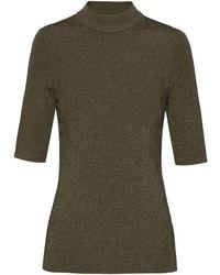 HUGO Shoundyna Short Sleeve Knitted Top - Green