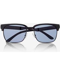 Express Heavy Brow Sunglasses - Black