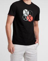 Express Black Circle Logos Graphic T-shirt Black Xl Tall