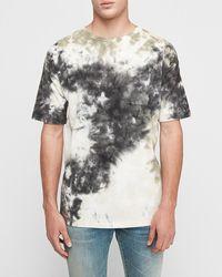 Express Tie-dye Crew Neck T-shirt - Black
