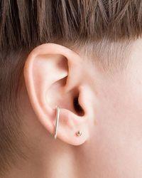 Express One Six Five Silver Thea Ear Cuff Silver Onesize - Metallic
