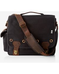 Express - Robert Mason Leather Canvas Classic Case - Lyst