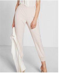 Express Soft Twill Dressy Jogger Pant - Pink