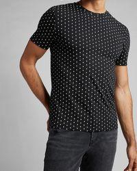 Express Geo Print Moisture-wicking Performance T-shirt Black S