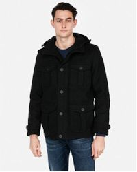 Express - Ig & Tall Wool-blend Hooded Four-pocket Coat - Lyst