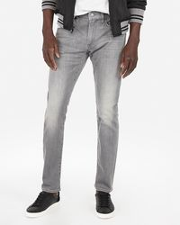 Express Skinny Grey Stretch+ Jeans