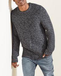 Express Upwest Cozy Crewneck Sweater Gray S
