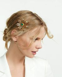 Express - Lesli Dale Filigree Flower Hairclip And Pin - Lyst
