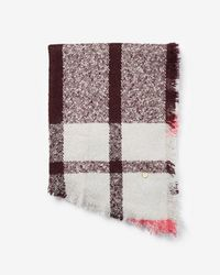 Express - Large Plaid Blanket Scarf - Lyst