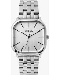 Express Breda Silver Visser Watch Silver - Metallic