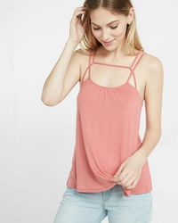 Express Double Strap Trapeze Cami - Pink