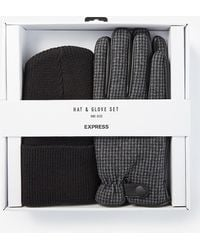 Express Hat & Glove Gift Set - Black