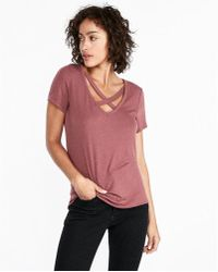 Express - One Eleven Stappy Front Slim Tee - Lyst