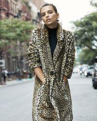 Express Faux Leopard Fur Coat - Multicolour