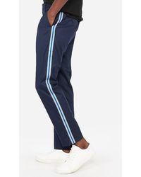 Express Stretch Side Stripe Dress Pants Blue W42 L30