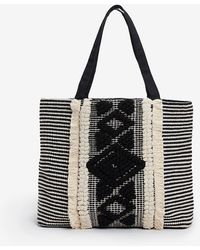Express Neutral Fabric Tote - Black