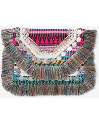 Express - Multi-color Coin Clutch - Lyst