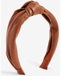 Express Faux Leather Knot Headband Lion - Multicolour
