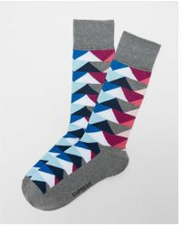 Express - Geometric Pattern Dress Socks - Lyst