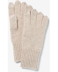 Express X You Cashmere Gloves Neutral - Natural