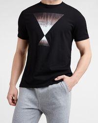 Express Black Tie-dye Hourglass Graphic T-shirt Black S