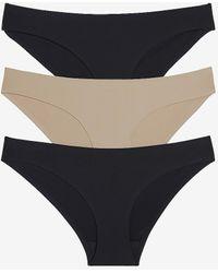 Express Honeydew Intimates 3pk Skinz Hipster Underwear Black S