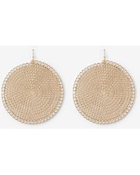 Express Filigree Circle Drop Earrings - Metallic
