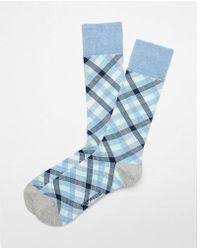 Express - Check Print Dress Socks - Lyst