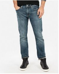 Express - Slim Dark Wash Stretch Jeans, Men's Size:w28 L28 - Lyst