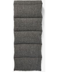 Express Charcoal Puffer Scarf - Gray