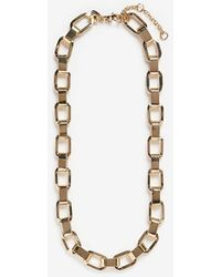 Express Linked Chain Necklace Gold - Metallic
