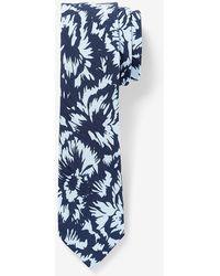 Express Navy Floral Tie - Blue