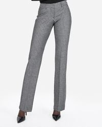 Express Low Rise Barely Boot Ticking Stripe Editor Pant Black And White Stripe