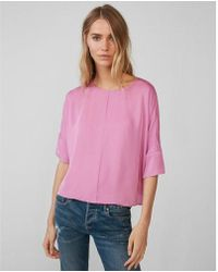 Express - Etite Silky Cocoon Blouse - Lyst