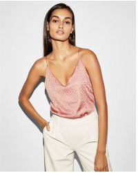Express - Textured Seed Downtown Cami - Lyst
