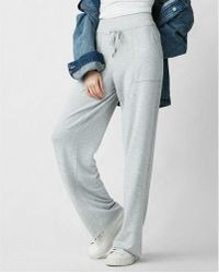 Express One Eleven Wide Leg Lounge Pant - Grey