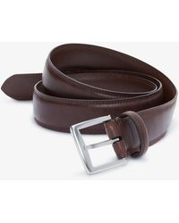 Express - Stitched Silver Prong Belt Brown - Lyst