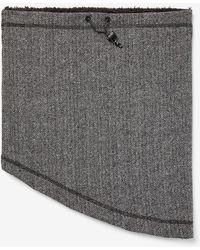 Express Cozy Herringbone Snood - Gray