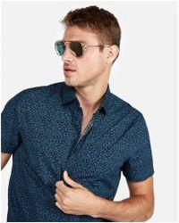 Express - Classic Floral Short Sleeve Shirt - Lyst