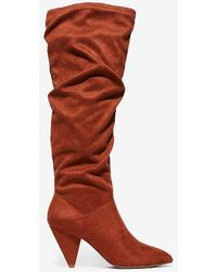 Express Slouch Heeled Boots Brown