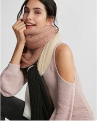 Express - Color Block Scarf - Lyst