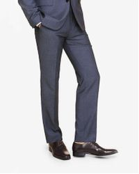 Express - Slim Photographer Micro Twill Navy Suit Pant - Lyst