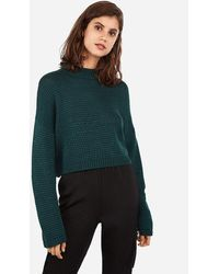 Express Mock Neck Pullover Jumper Green
