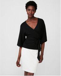 Express - Tie Waist Kimono Sleeve Blouse - Lyst