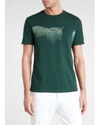 Express Green Mountain Panorama Crew Neck T-shirt