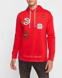 Express - Atlanta Hawks Nba Hoodie Red Xs - Lyst