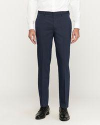 Express Slim Stretch Wrinkle-resistant Dress Pants Blue W28 L28